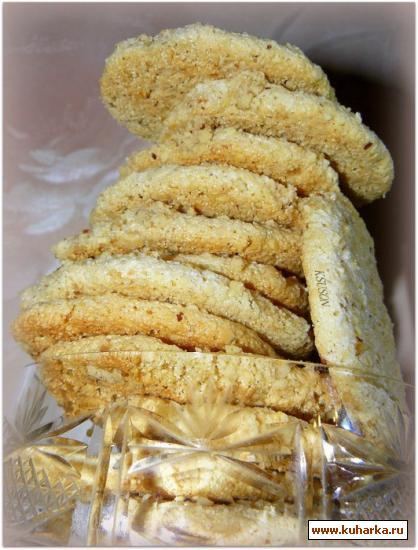 Рецепт Миндальное печенье с манной крупой