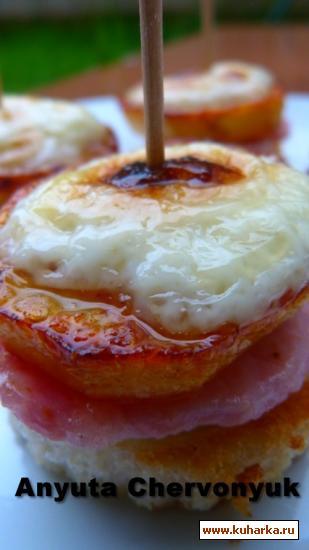 Рецепт Мини со свининой и картофелем с чесночным суфле.