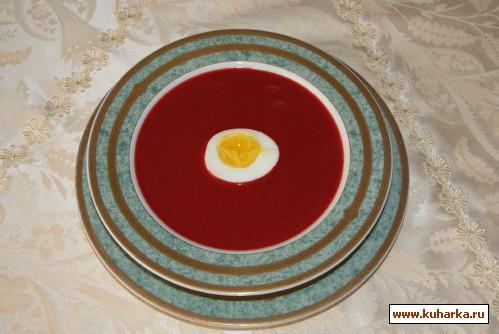 Рецепт Свекольный крем-суп