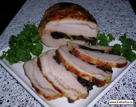 Рецепт Свинина, запеченная с черносливом
