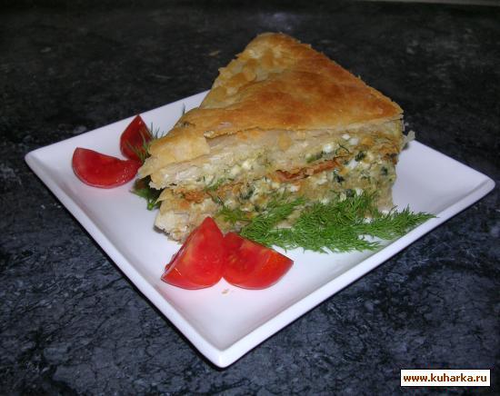 Рецепт «Наполеон» с сыром и зеленью