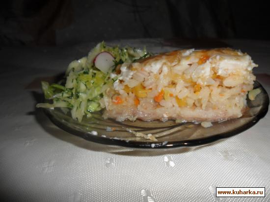 Рецепт Рыба запечёная под шубой