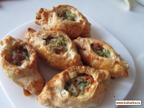 Рецепт Пирожки с соленой рыбой