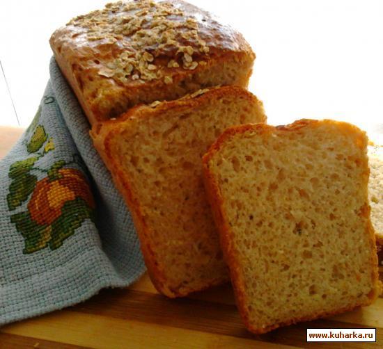 Рецепт Сырно-овсяный хлебушек на кефире с жареным луком и орегано.
