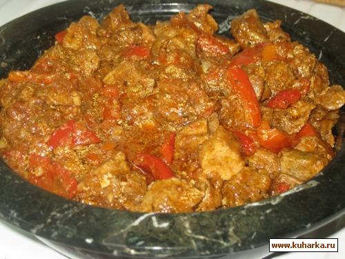 Рецепт Перкельт (венгерская тушёная говядина в соусе из паприки)