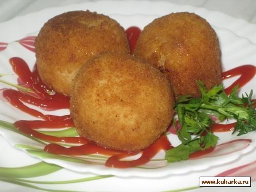 Рецепт Аранчини (рисовые шарики с мясной начинкой)