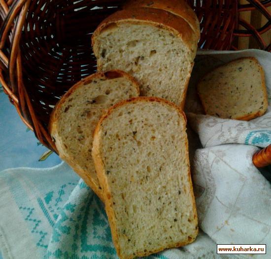 Рецепт Грибной хлеб с жареным луком и укропом.