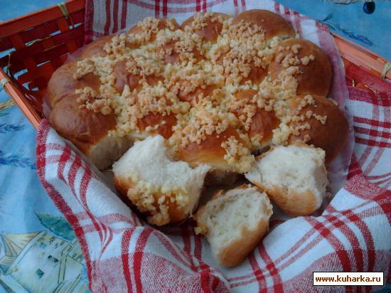 Рецепт Сдобные булочки с кокосовым штрейзелем.