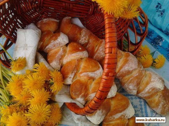 """Рецепт Багет """"Парижанка"""" с тимьяном и чесноком."""
