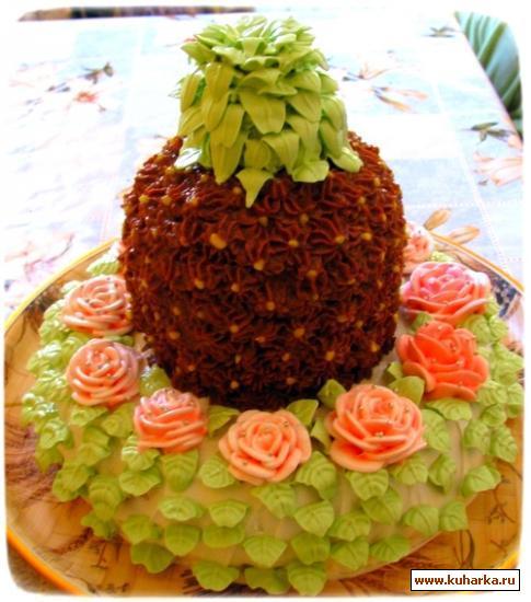 Торт ананас рецепт