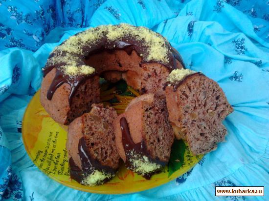Рецепт Кекс с шоколадом и изюмом.