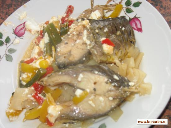 Рецепт Рыба, тушеная с капустой (овощами)