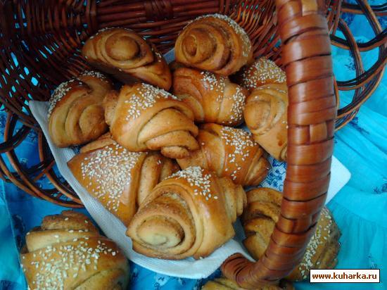 Рецепт Финские булочки с корицей и кардамоном.