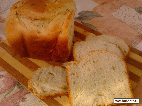 Рецепт Кефирный хлеб с луком, укропом и тмином.