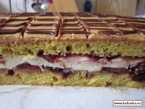 Рецепт Сливовый пирог с корицей и карамелью .