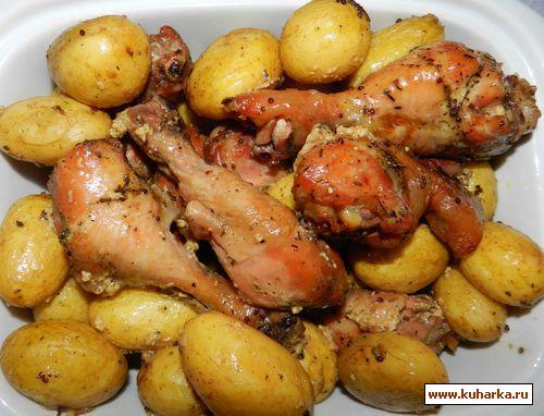 Рецепт Курица в фольге с молодым картофелем