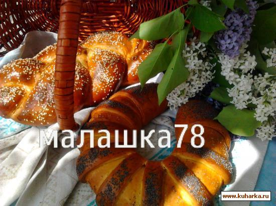 Рецепт Рулет-подкова и плетенка с маковой начинкой