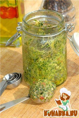 Рецепт Песто из базилика и сушенных помидор
