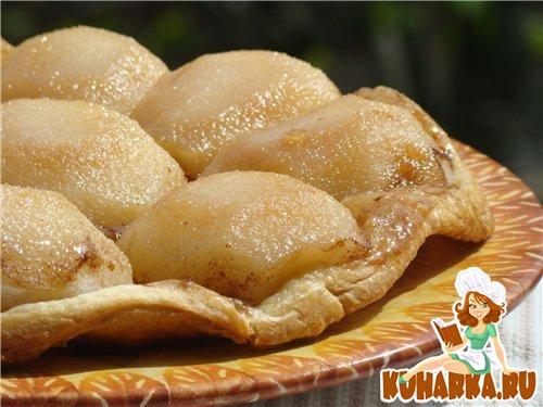 Рецепт Перевернутый грушевый тарт (Pear tarte tatin)