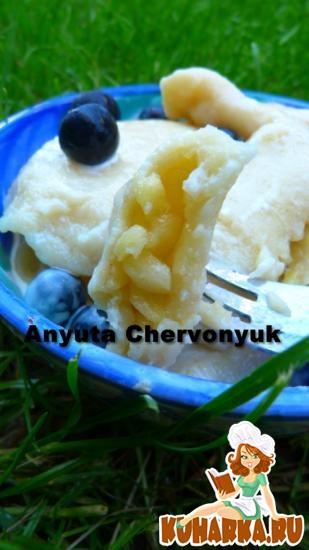 Рецепт Картофельные пельмени с яблоками.