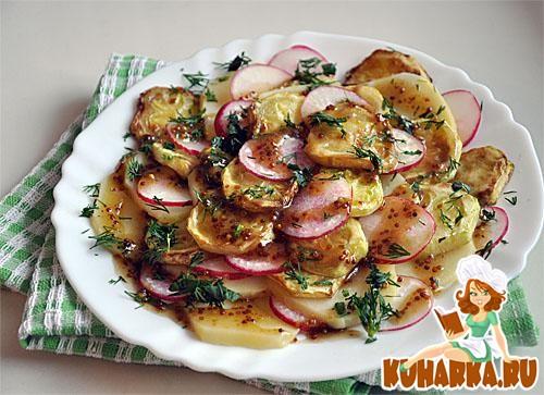 Рецепт Овощной салат с горчично-медовым соусом