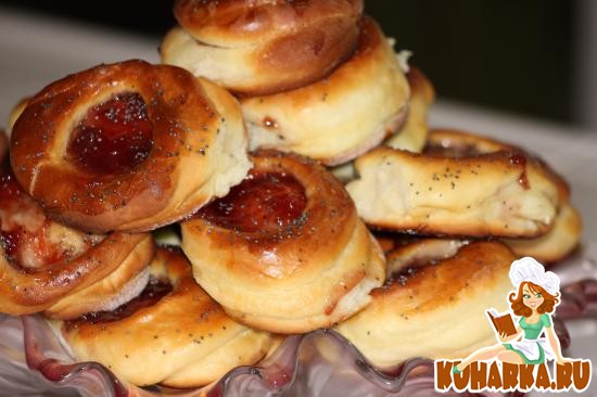 Дрожжевые булочки с вареньем рецепт с фото
