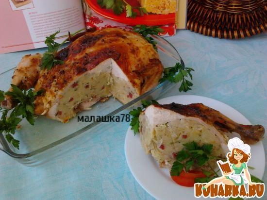 Рецепт Курица с лапшевником.