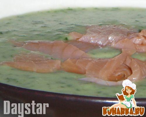 Рецепт Картофельный суп-пюре с лососем и шпинатом