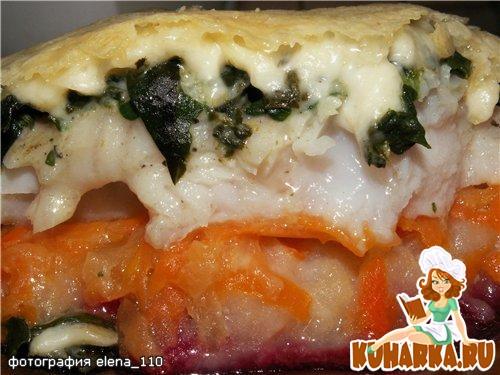 Рецепт Рыба на овощной подушке