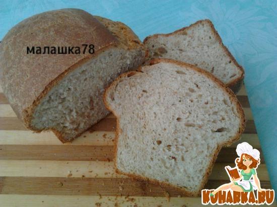 Рецепт Хлеб пшенично-ржаной со шкварками, укропом и чесноком.