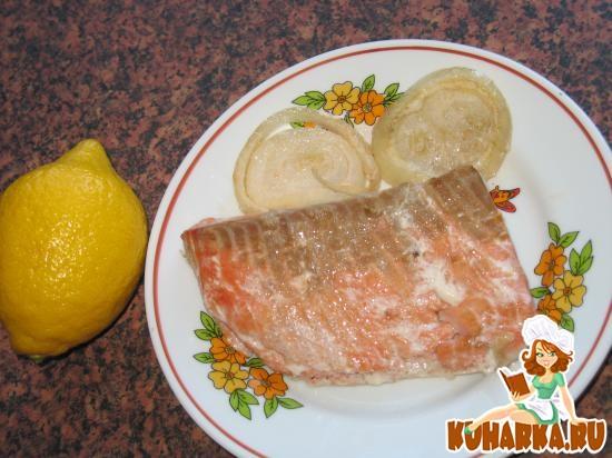 Рецепт Припущенная рыба, маринованная огуречным рассолом