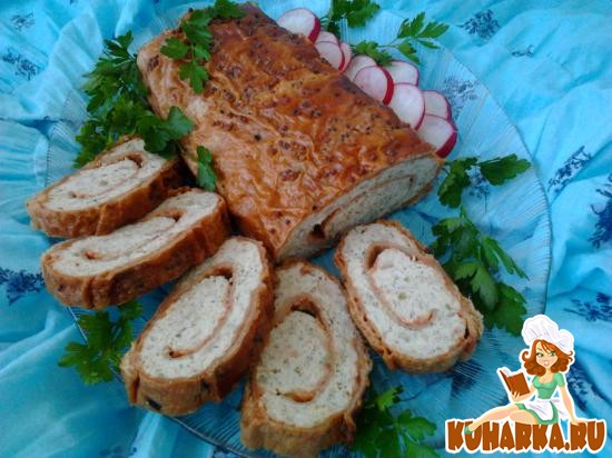 Рецепт Вафельный мясной рулет.