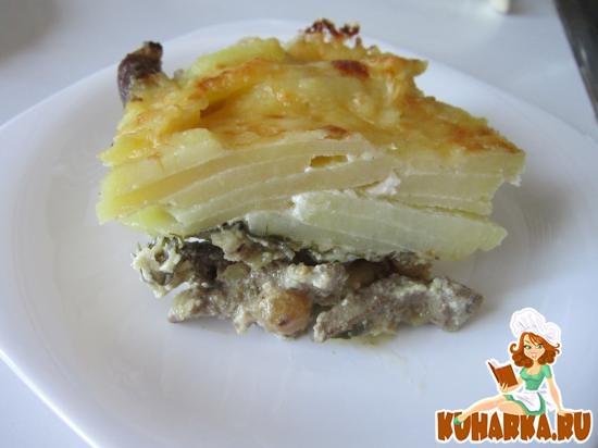 Рецепт Запеканка по-французки с печенью и изюмом.