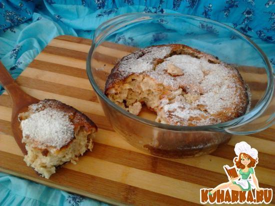 Рецепт Овсяно-творожная запеканка с бананом.