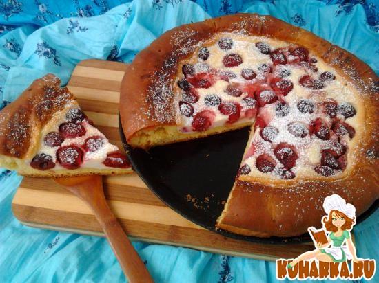 Рецепт Пирог «Ягодная ватрушка».
