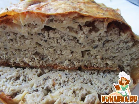 """Рецепт Пирог """"Монастырская изба"""" с мясом."""