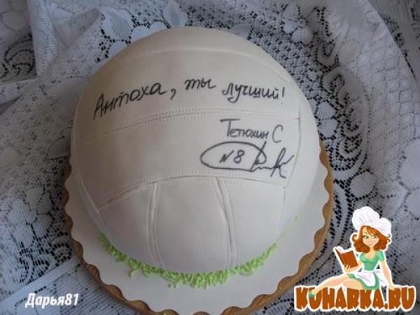 Торт Футбольный мяч Выпечка Готовим с нами 99