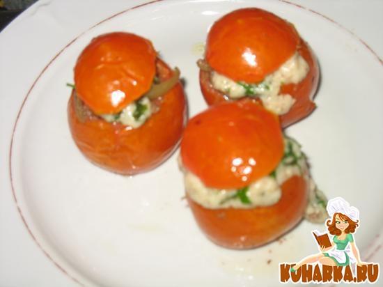 Рецепт Запеченные помидоры, фаршированные печенью и луком