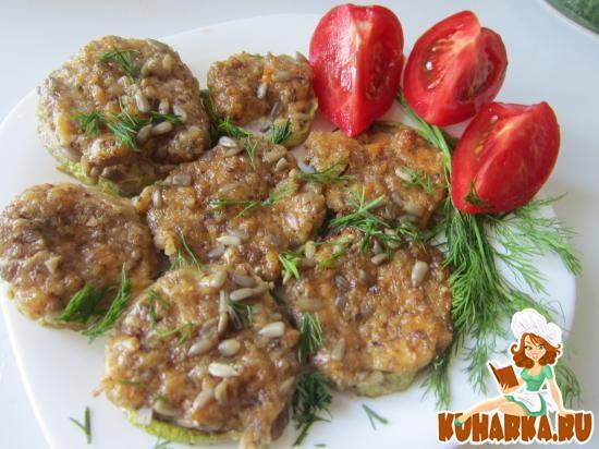 Рецепт Кабачки под ореховой шубкой