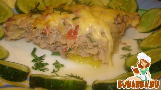 Рецепт Запеканка из индейки с кабачками