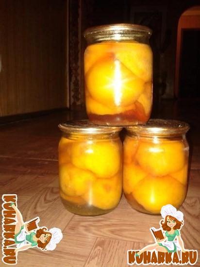 Рецепт Персики консервированные