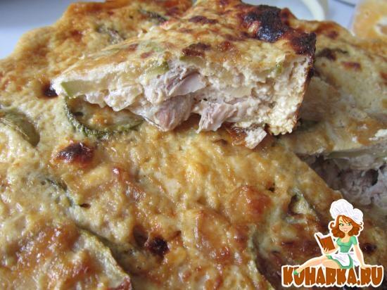 Рецепт из курицы с кабачками