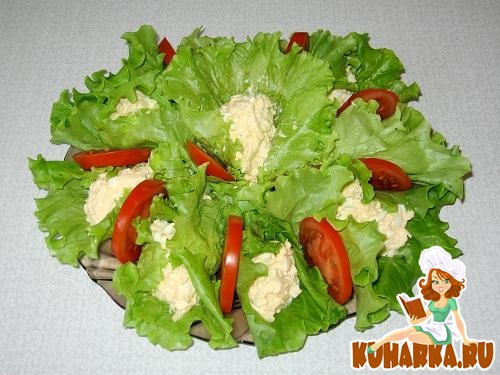 """Рецепт Зеленый салат """"Raffine"""""""