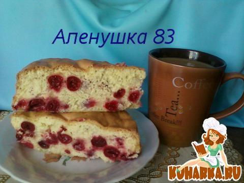 """Рецепт Вишневый бисквит """"Аврора"""""""