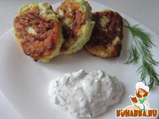 Рецепт Оладушки кабачково-картофельные.