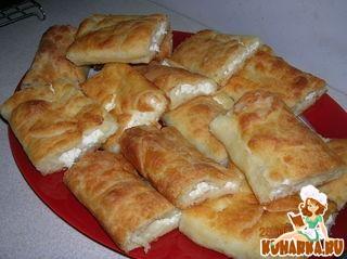 Рецепт Болгарская банница или сербская гибаница (слоеный пирог из теста фило)