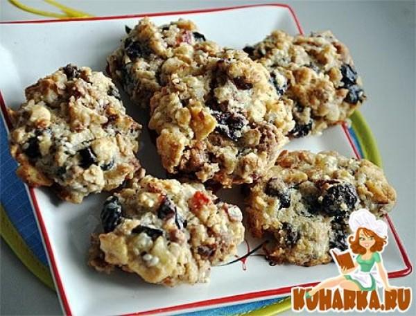 рецепт печенья с орехами и сухофруктами