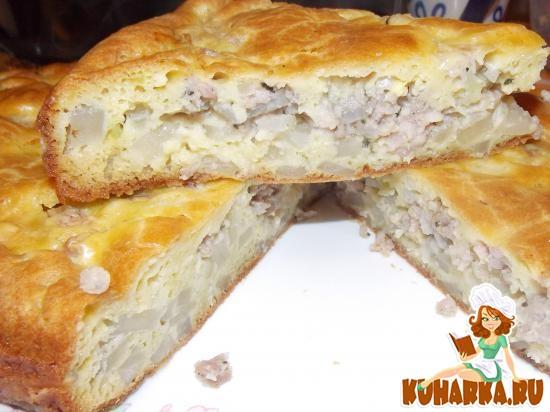 Наливной пирог с фаршем рецепт с фото