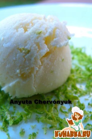 Рецепт Кокосовое мороженое с лаймом.
