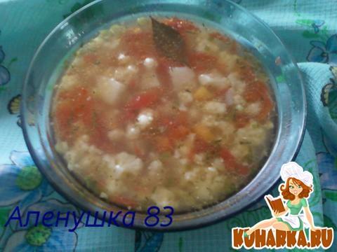Рецепт Пестрый овощной суп.